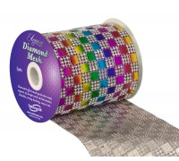 Diamond Mesh No. 350 11cm x 4.5m Rainbow