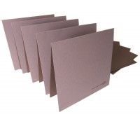 WILDFLOWER WOOD TWO TONE CARD & ENVELOPES 5 PACK