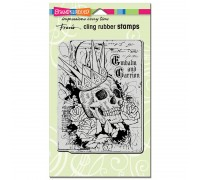 Cling Crowned Skull Rubber Stamp