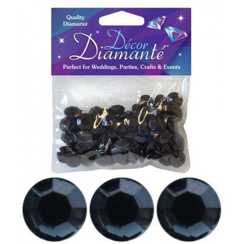 craft supplies uk wholesale 12mm diamante 28g no 20 black 4082